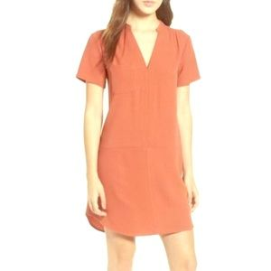 Lush Spilt Neck Shift Dress